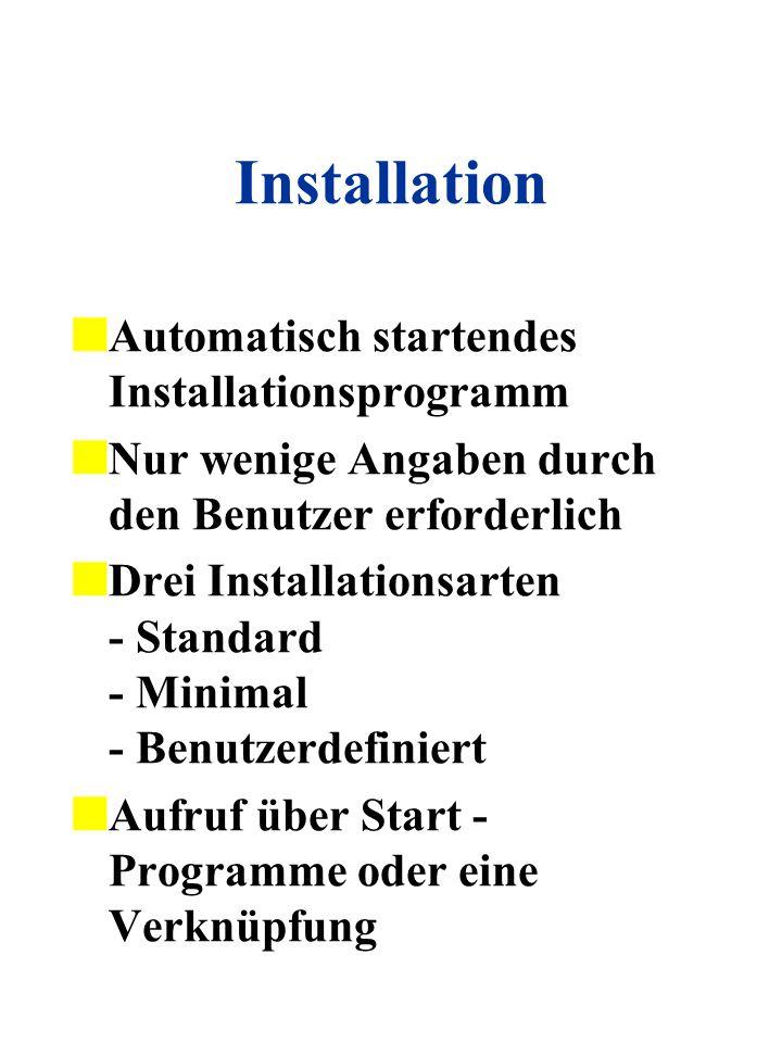 Installation Automatisch startendes Installationsprogramm