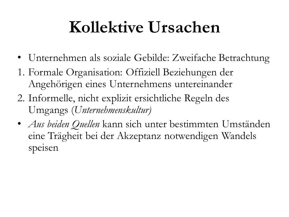 Kollektive Ursachen Unternehmen als soziale Gebilde: Zweifache Betrachtung.