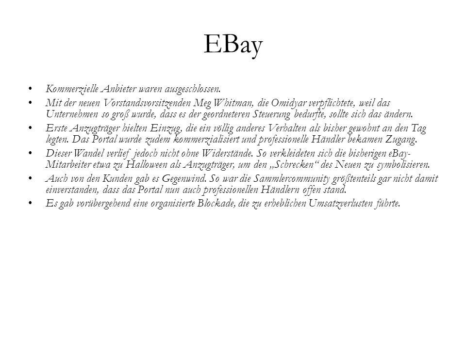 EBay Kommerzielle Anbieter waren ausgeschlossen.