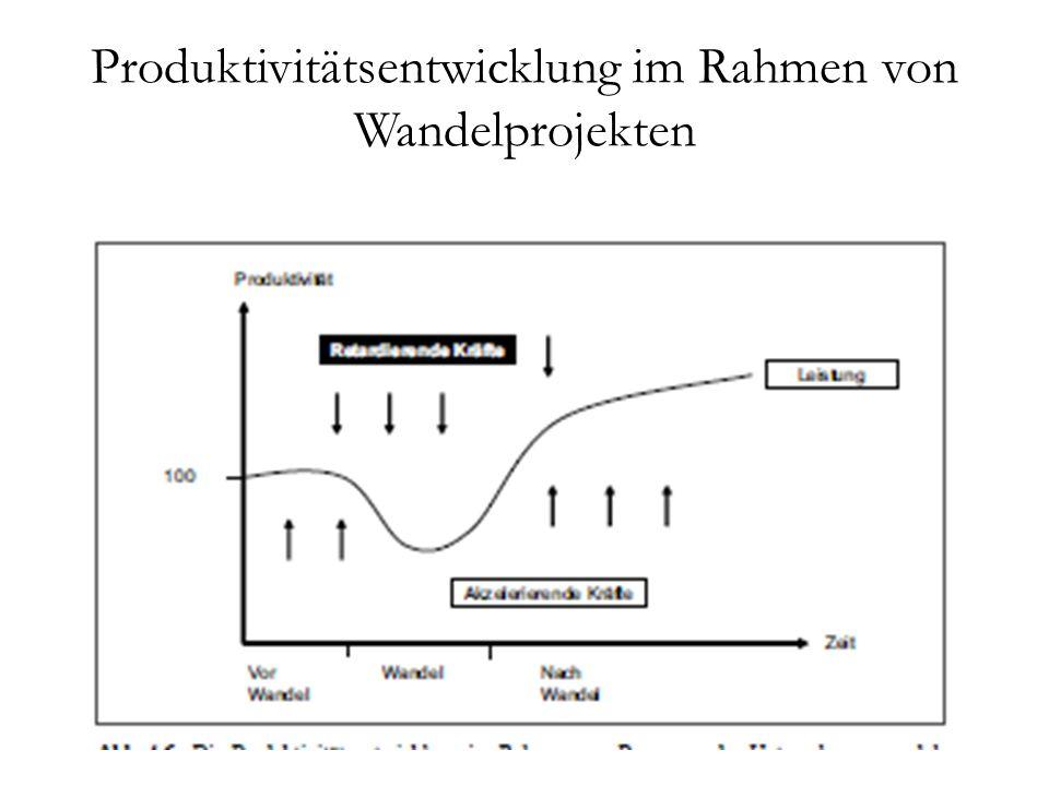 Produktivitätsentwicklung im Rahmen von Wandelprojekten