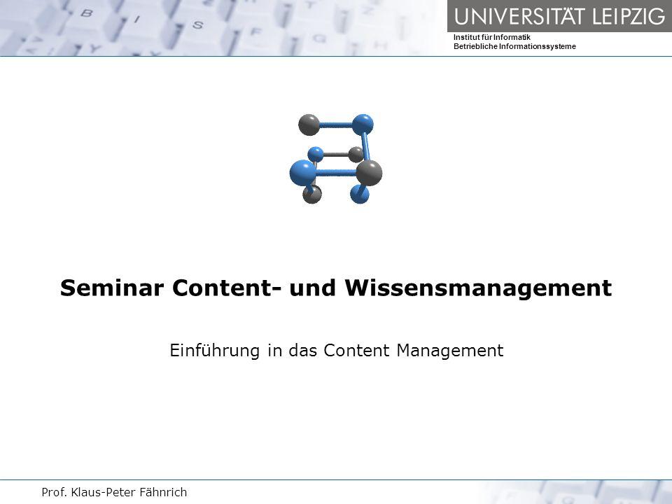 Seminar Content- und Wissensmanagement