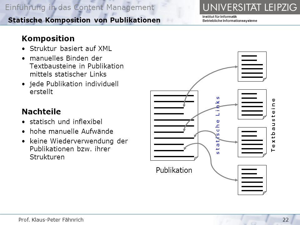 Statische Komposition von Publikationen