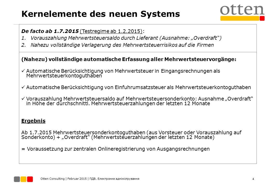 Kernelemente des neuen Systems