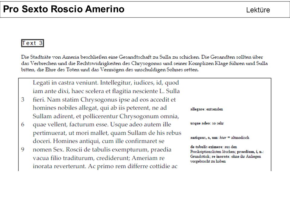 Pro Sexto Roscio Amerino Lektüre