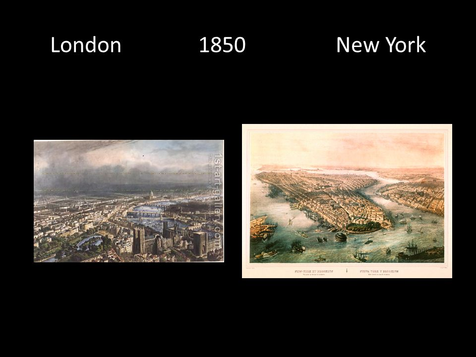 London 1850 New York