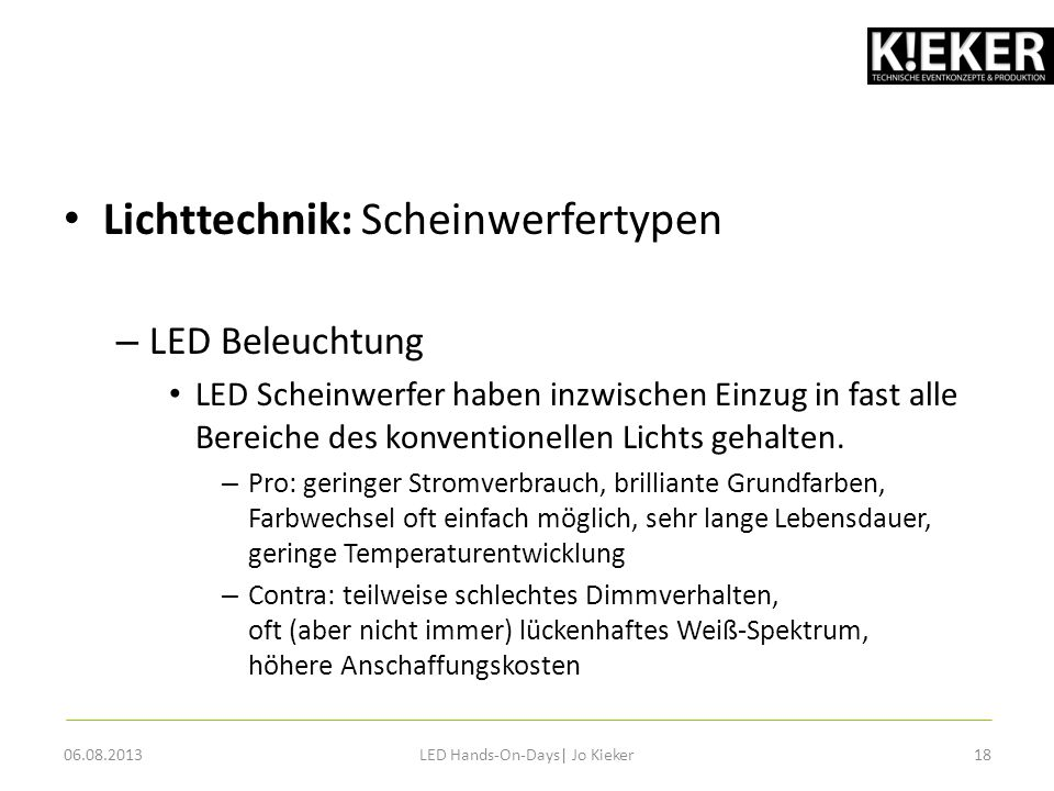 LED Hands-On-Days| Jo Kieker