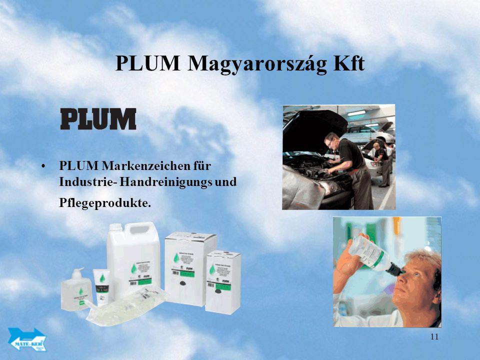 PLUM Magyarország Kft PLUM Markenzeichen für Industrie- Handreinigungs und Pflegeprodukte.