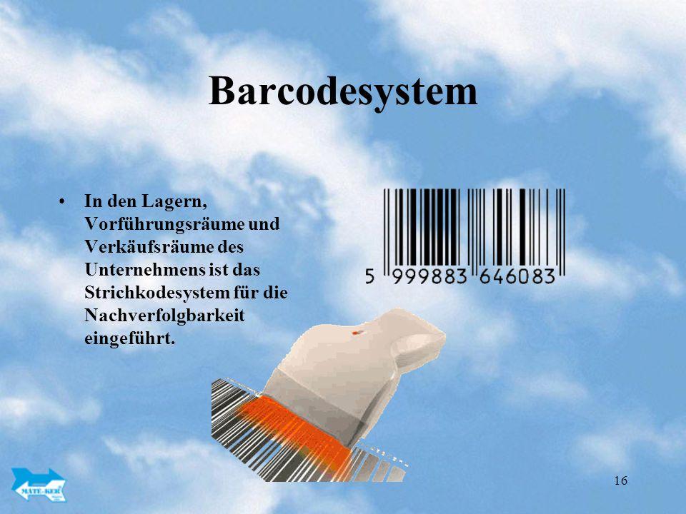 Barcodesystem In den Lagern, Vorführungsräume und Verkäufsräume des Unternehmens ist das Strichkodesystem für die Nachverfolgbarkeit eingeführt.