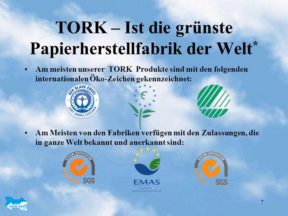 TORK – Ist die grünste Papierherstellfabrik der Welt*
