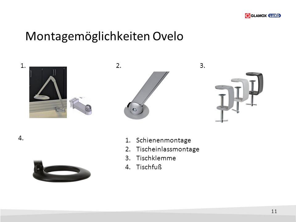 Montagemöglichkeiten Ovelo