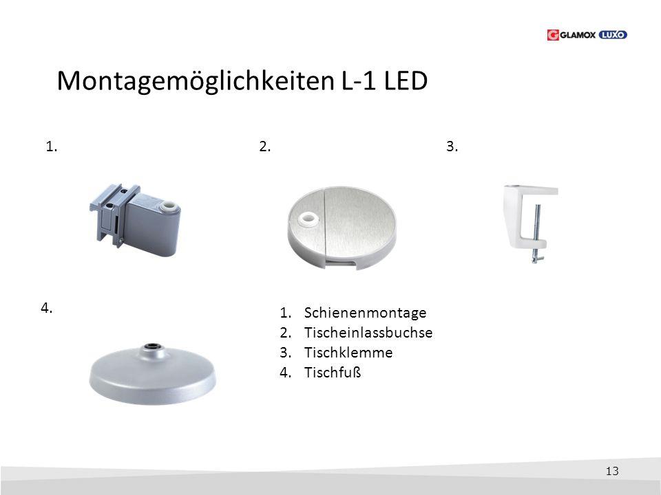Montagemöglichkeiten L-1 LED