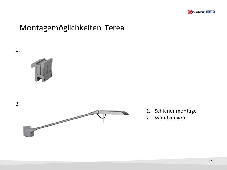 Montagemöglichkeiten Terea