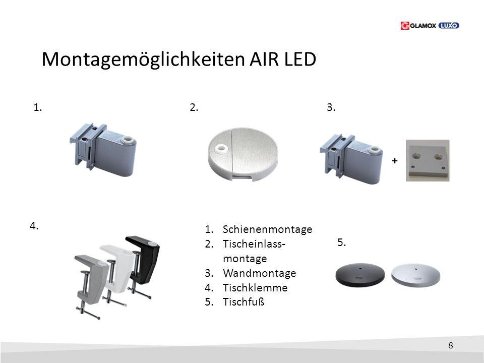 Montagemöglichkeiten AIR LED