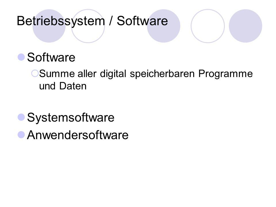 Betriebssystem / Software