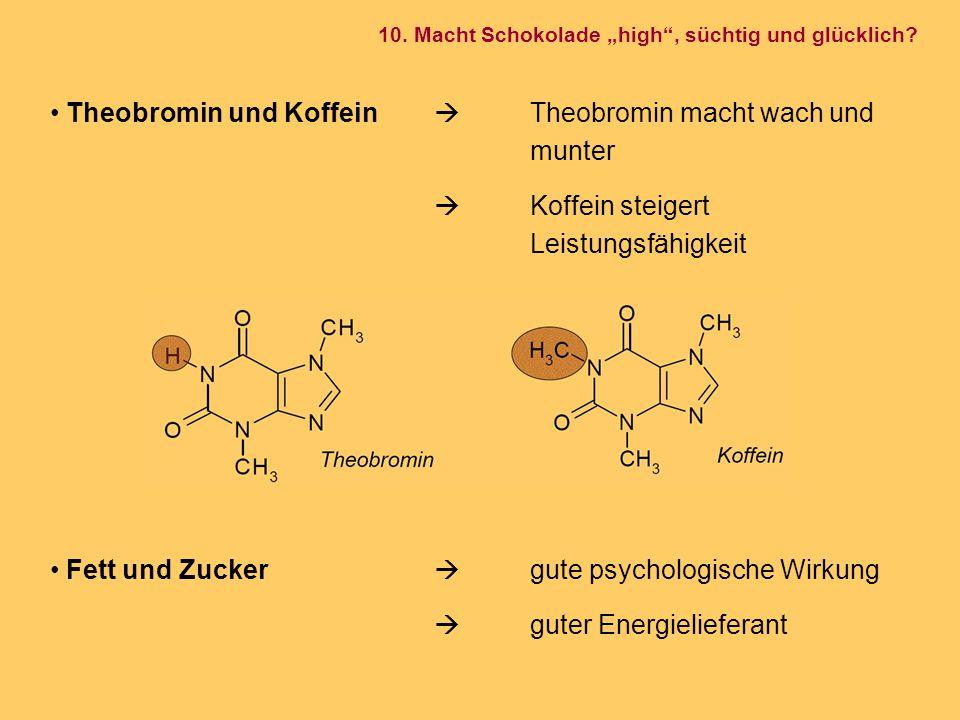 Theobromin und Koffein  Theobromin macht wach und munter
