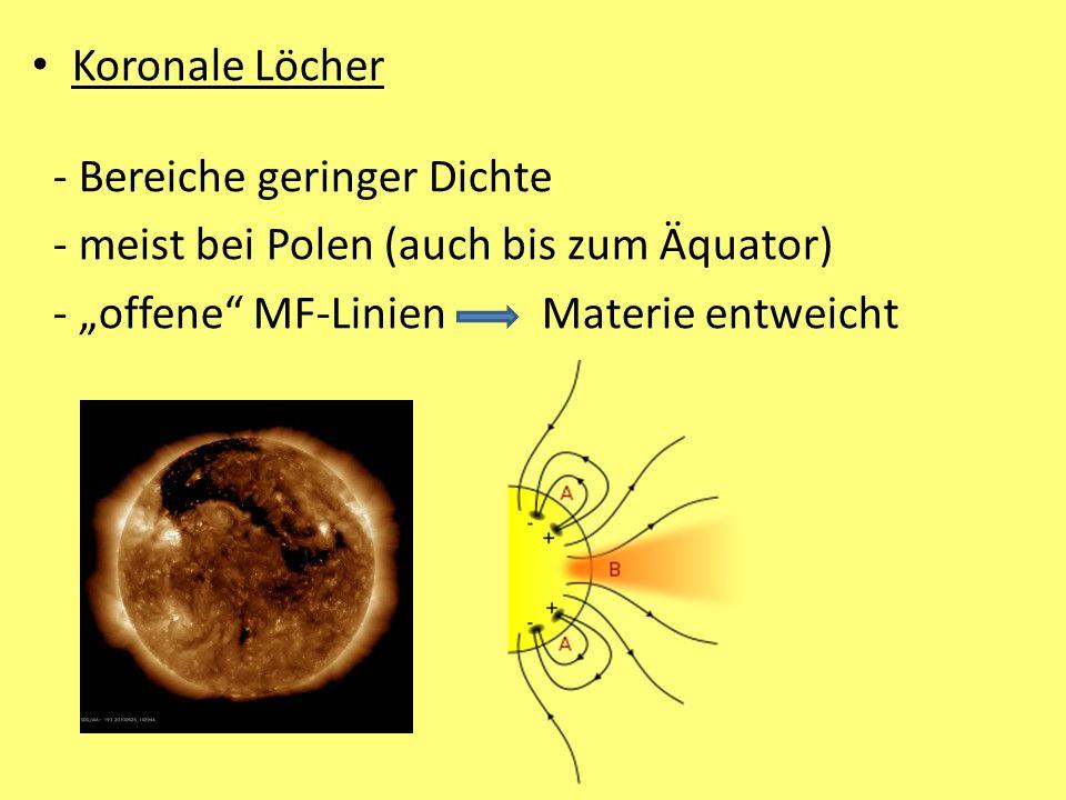 Koronale Löcher - Bereiche geringer Dichte.
