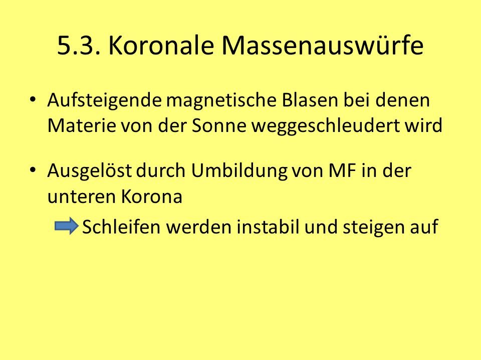 5.3. Koronale Massenauswürfe