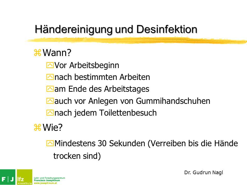 Händereinigung und Desinfektion
