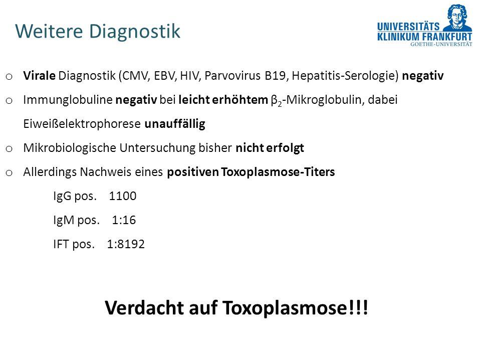 Verdacht auf Toxoplasmose!!!