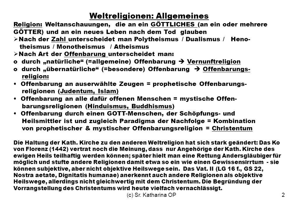 Weltreligionen: Allgemeines
