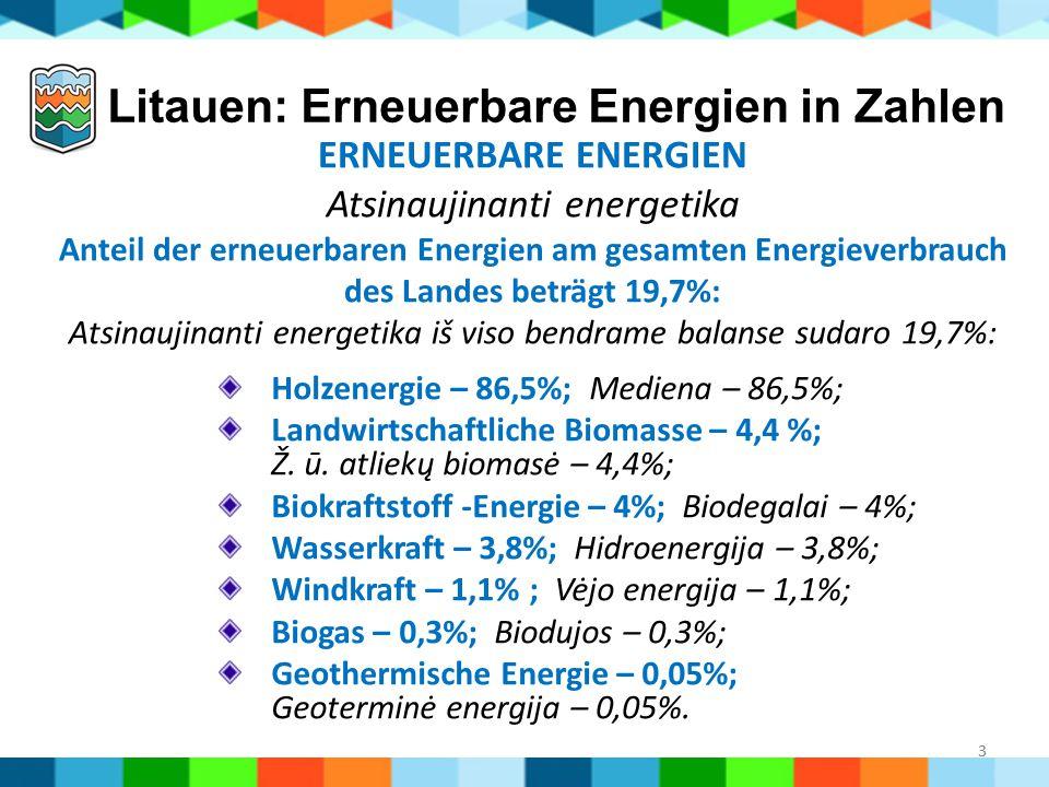 Litauen: Erneuerbare Energien in Zahlen