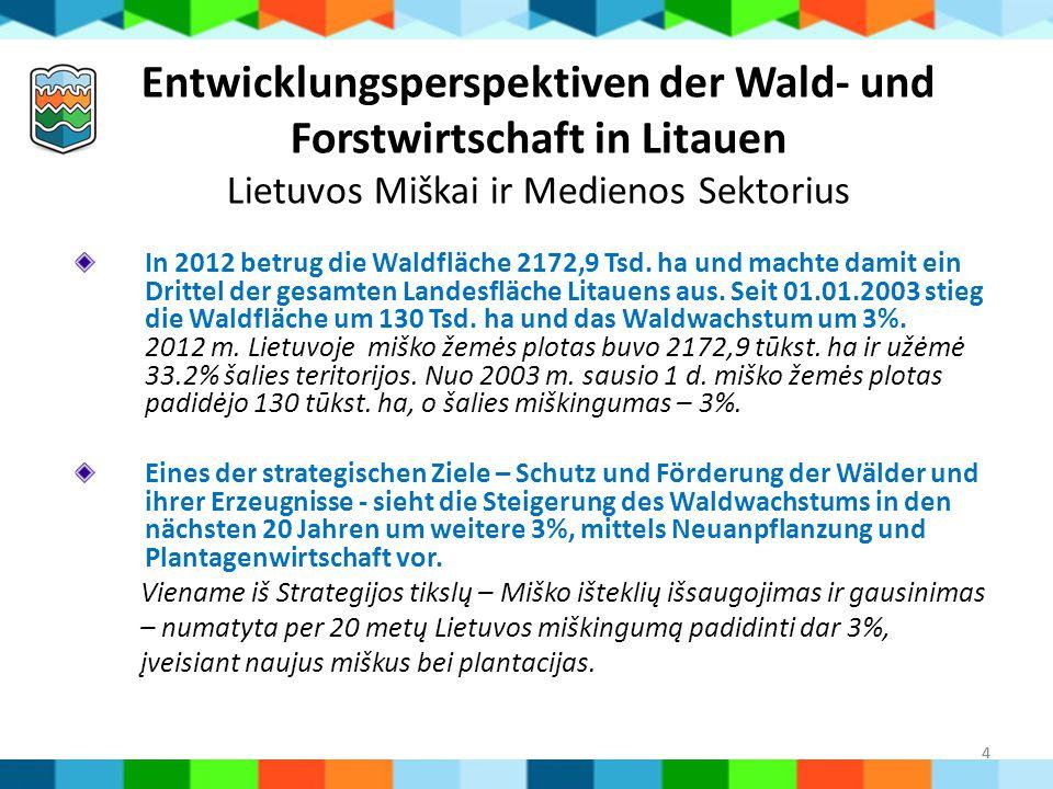 Entwicklungsperspektiven der Wald- und Forstwirtschaft in Litauen Lietuvos Miškai ir Medienos Sektorius
