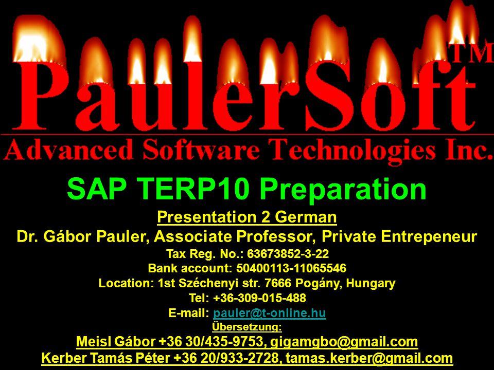 SAP TERP10 Preparation Presentation 2 German