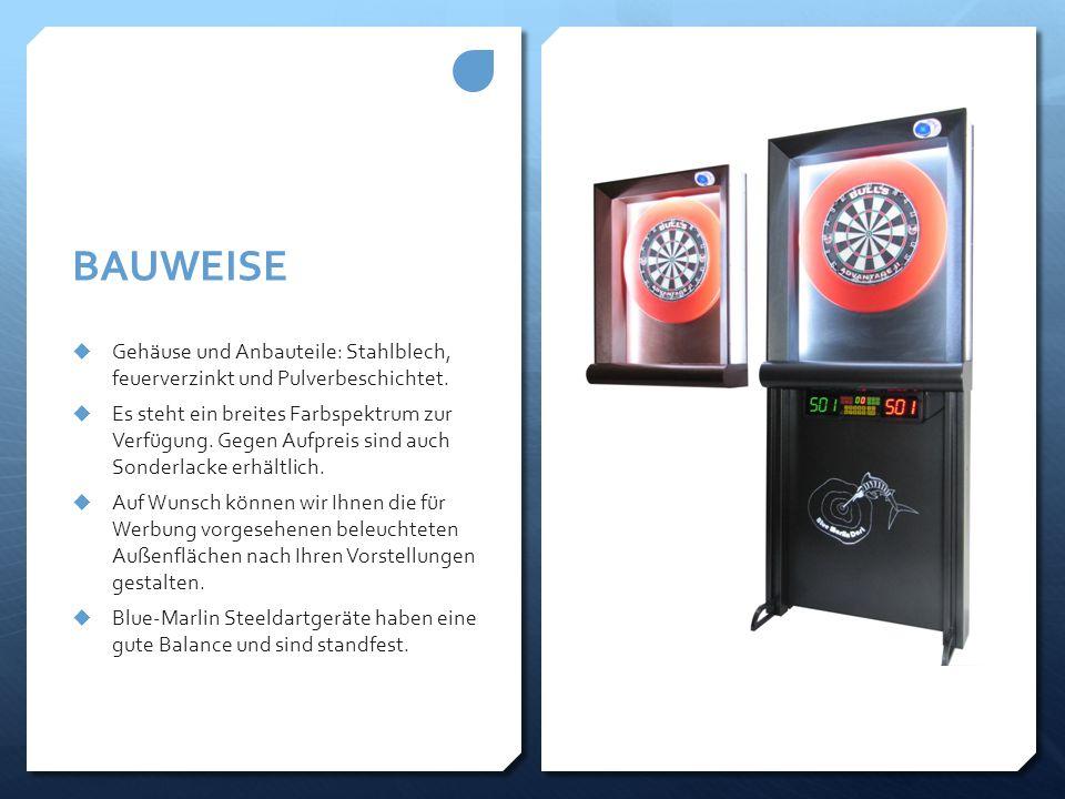 BAUWEISE Gehäuse und Anbauteile: Stahlblech, feuerverzinkt und Pulverbeschichtet.