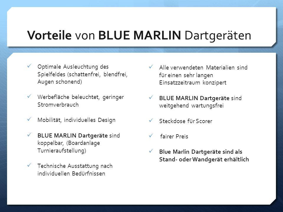 Vorteile von BLUE MARLIN Dartgeräten