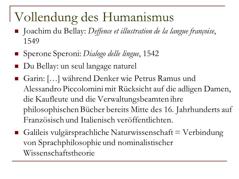 Vollendung des Humanismus