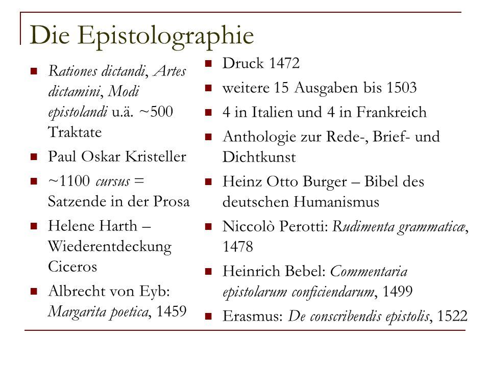 Die Epistolographie Druck 1472