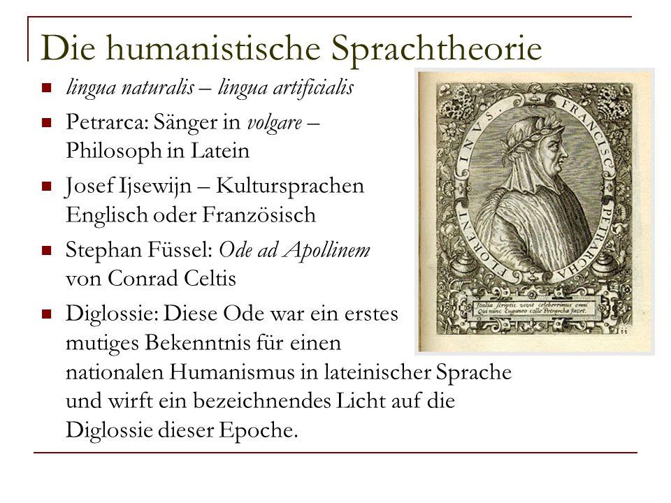 Die humanistische Sprachtheorie