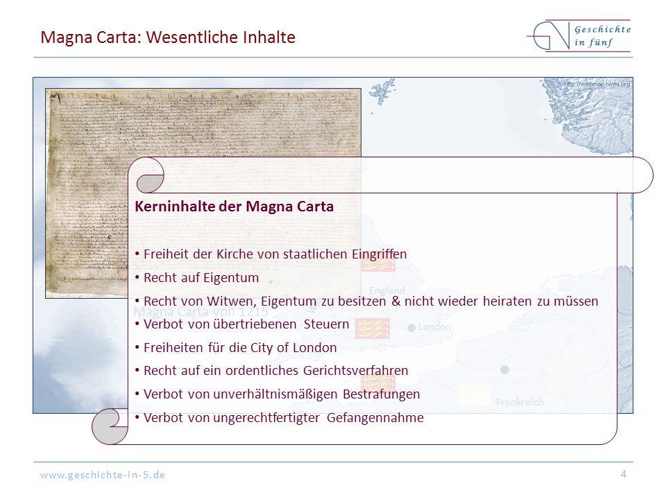 Magna Carta: Wesentliche Inhalte