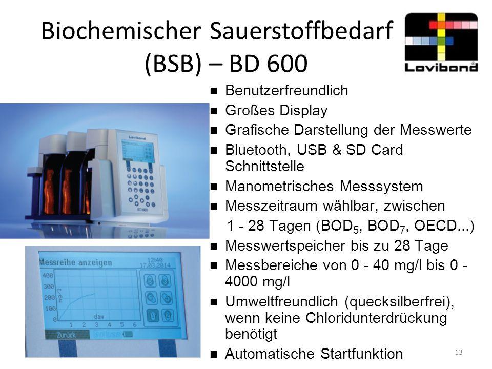 Biochemischer Sauerstoffbedarf (BSB) – BD 600