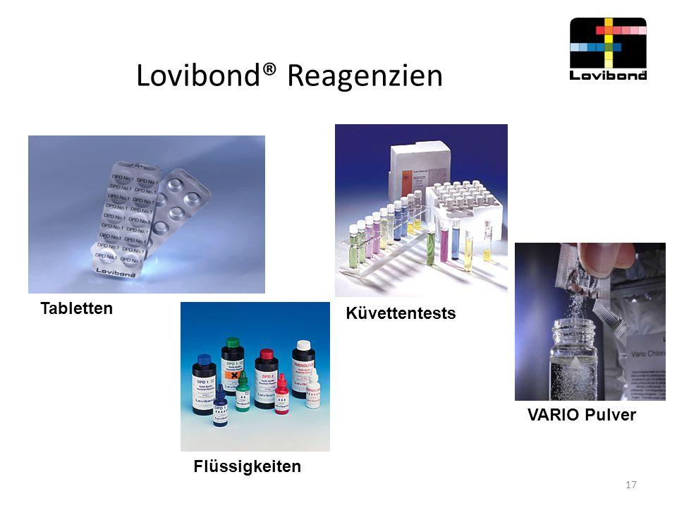Lovibond® Reagenzien Tabletten Küvettentests VARIO Pulver