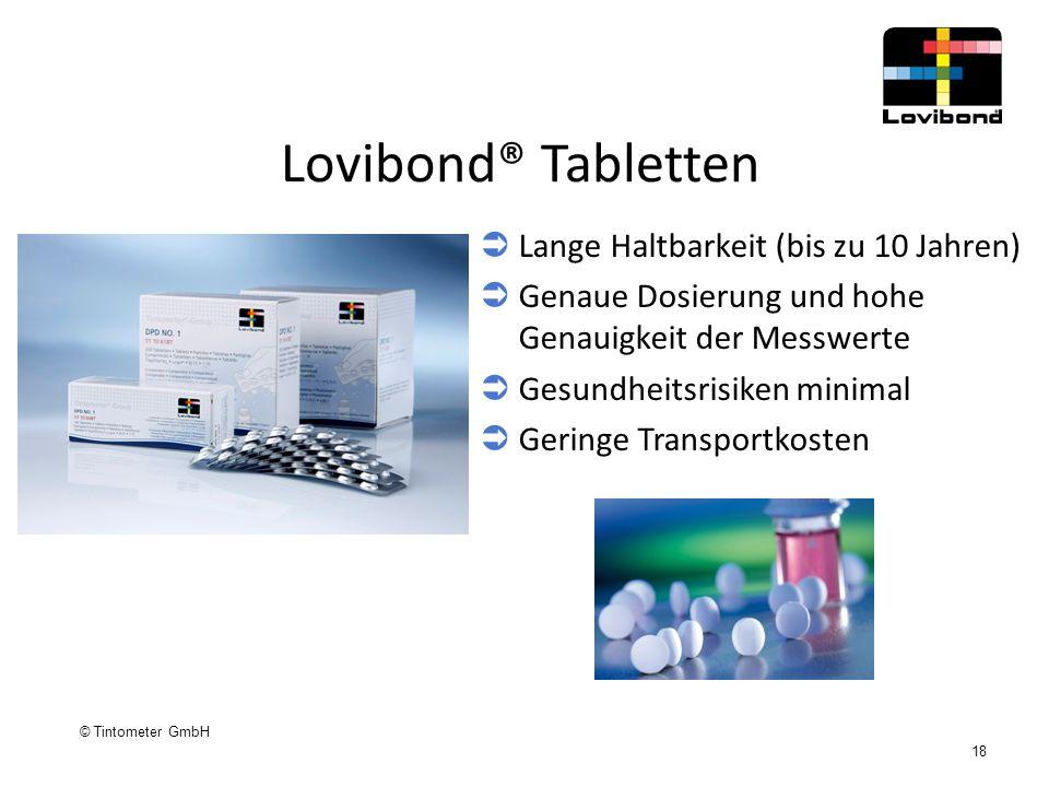 Lovibond® Tabletten Lange Haltbarkeit (bis zu 10 Jahren)