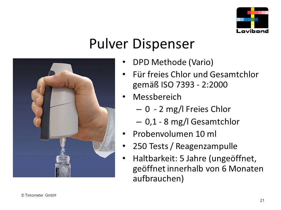 Pulver Dispenser DPD Methode (Vario)