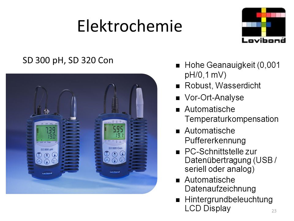 Elektrochemie SD 300 pH, SD 320 Con