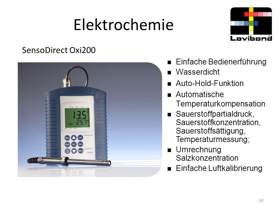Elektrochemie SensoDirect Oxi200 Einfache Bedienerführung Wasserdicht
