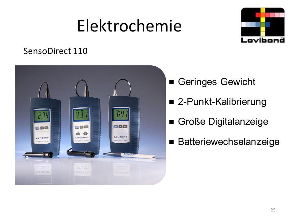Elektrochemie SensoDirect 110 Geringes Gewicht 2-Punkt-Kalibrierung
