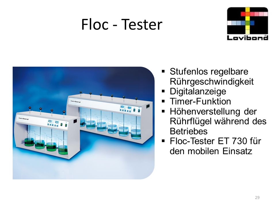 Floc - Tester Stufenlos regelbare Rührgeschwindigkeit Digitalanzeige