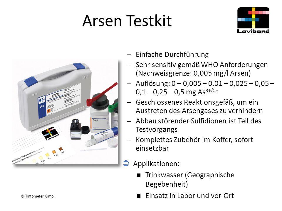 Arsen Testkit Einfache Durchführung