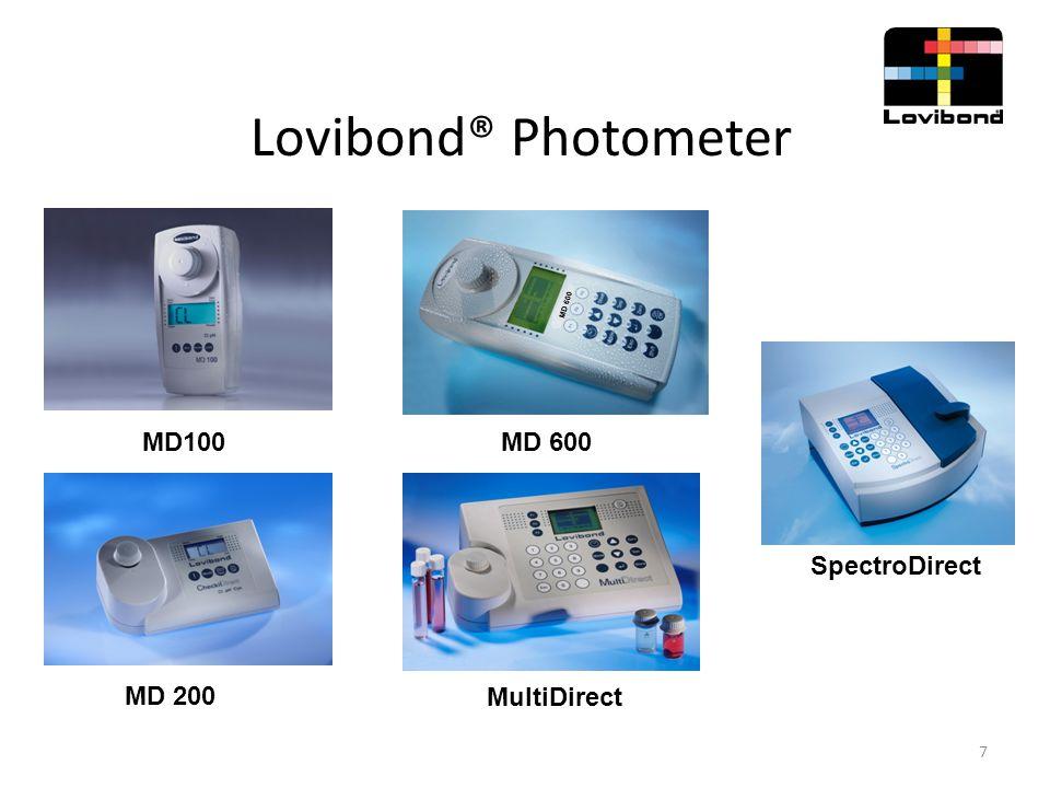 Lovibond® Photometer MD 600 SpectroDirect MD100 MD 200 MultiDirect