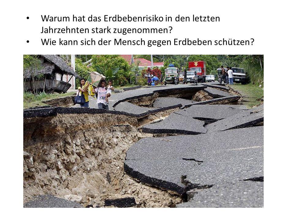 Wie kann sich der Mensch gegen Erdbeben schützen