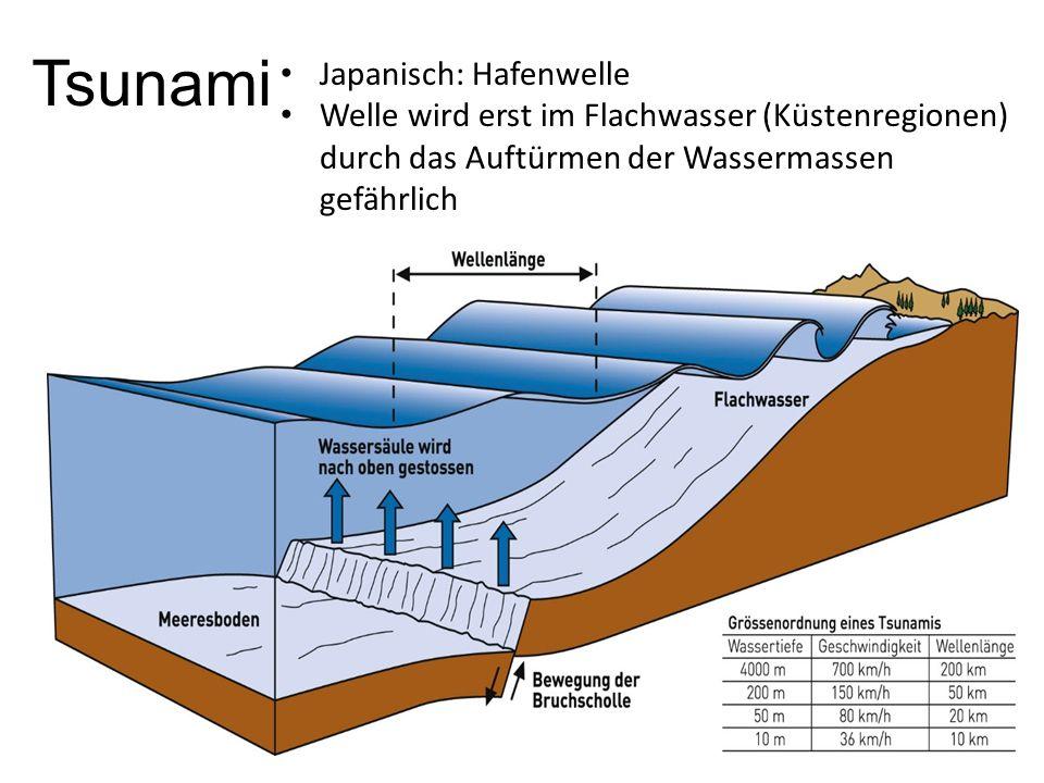 Tsunami Japanisch: Hafenwelle
