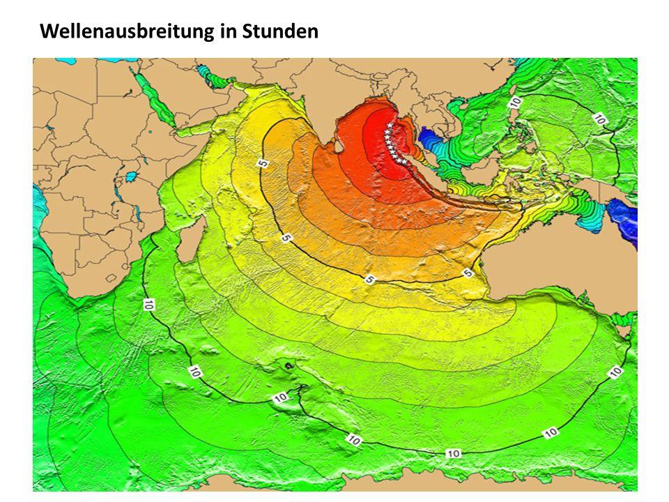 Wellenausbreitung in Stunden