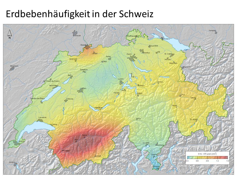 Erdbebenhäufigkeit in der Schweiz
