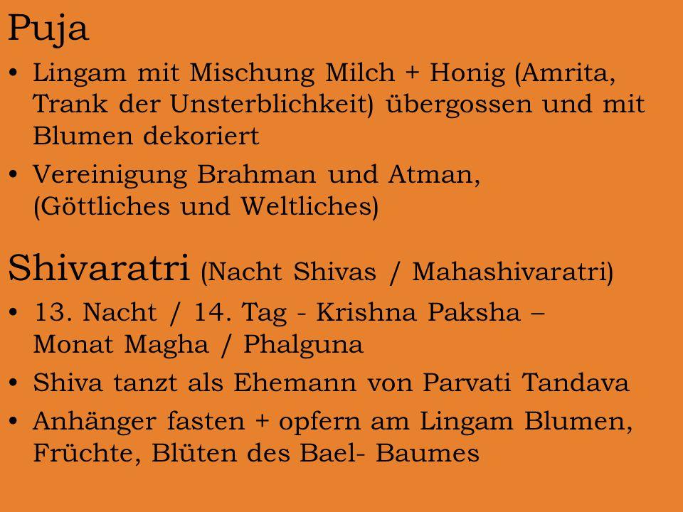 Shivaratri (Nacht Shivas / Mahashivaratri)