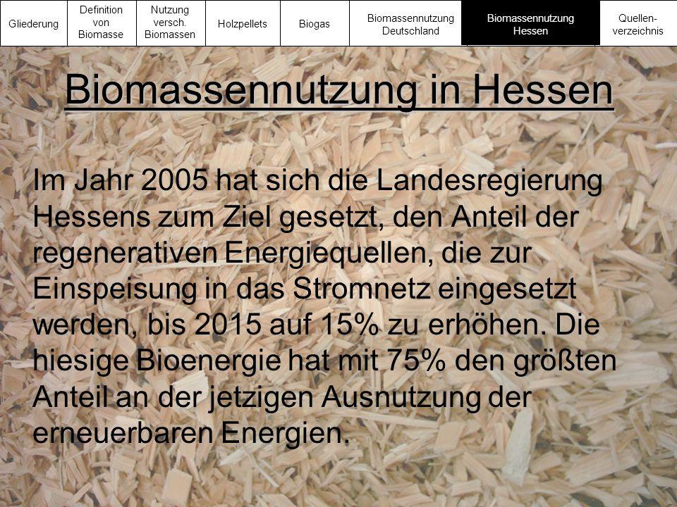 Biomassennutzung in Hessen