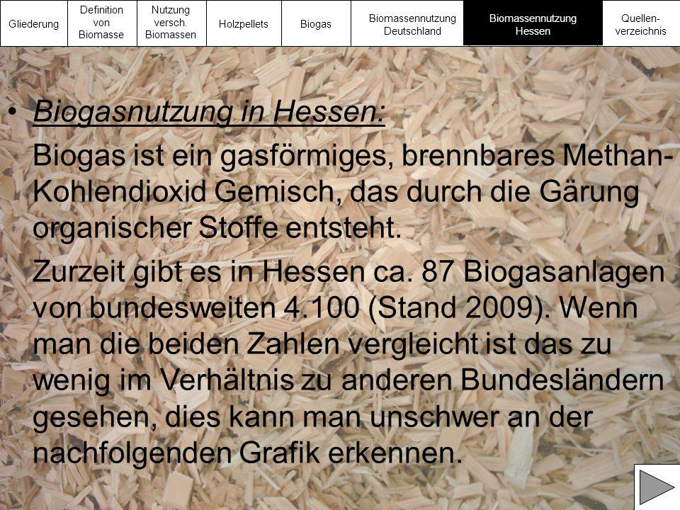 Biogasnutzung in Hessen: